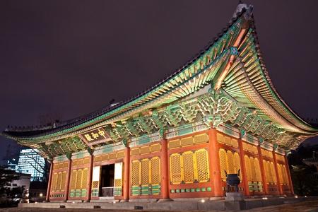 Palace by night Stock Photo