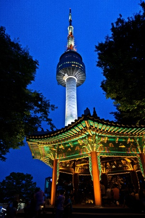 seoul: Tower and gazebo