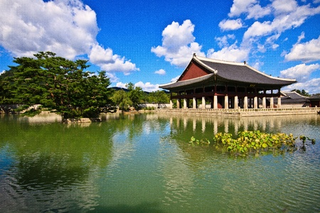 south korea: Beautiful day in palace