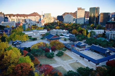 seoul: Autumn view of Palace