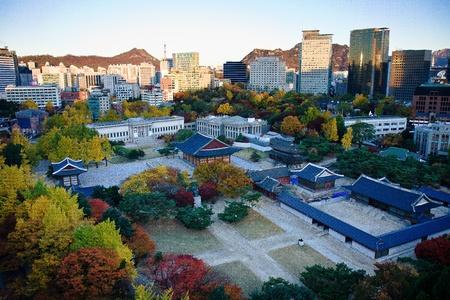 south korea: Autumn view of Palace