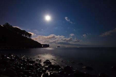 luz de luna: Claro de luna sobre la playa