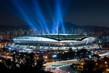 Stadium at night Editorial
