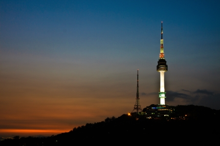 seoul: Tower by sunset