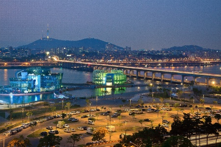 seoul: View of riverside