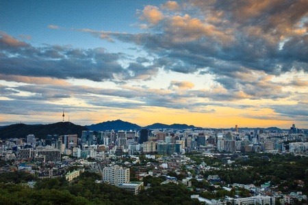 seoul: Cityscape viewed from above