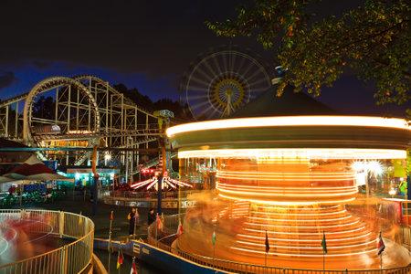 merry go round: Merry go round at night Editorial