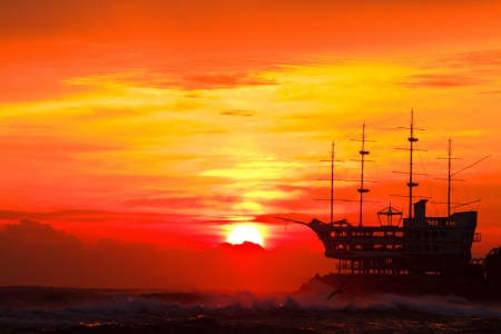east coast: Sunrise on the beach