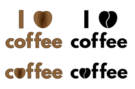 pep: Collection of artistic I love coffee titles