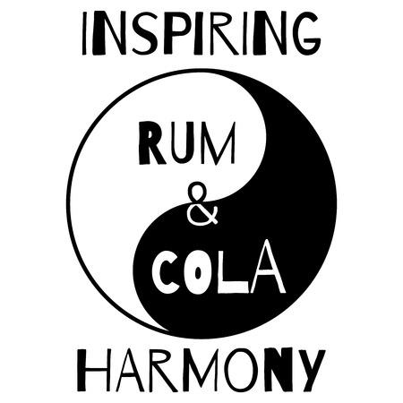 rum: Symbol of rum cola harmony in Yin Yang style