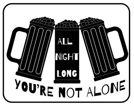 advertisement: K�nstlerische Bier Partei advertisement Illustration