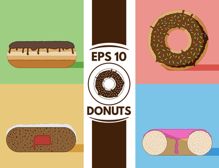 cute images: Collection of cute flat donuts images