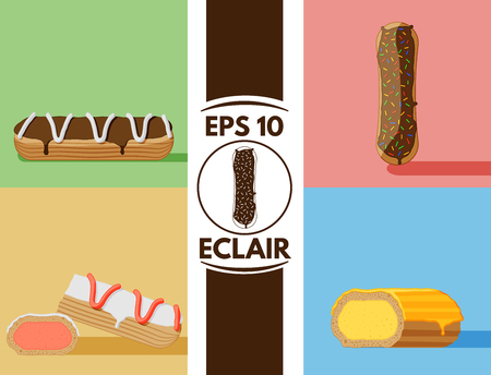 Collection of cute flat eclair images