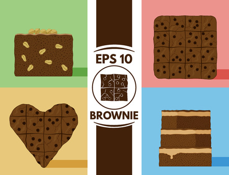 brownie: Collection of cute flat brownie cakes images