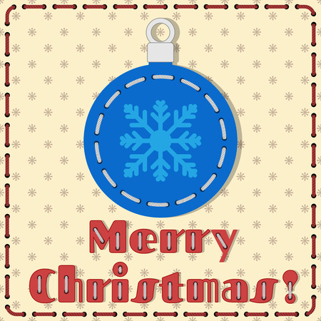 lacing: Handmade christmas tree toy gift card in lacing technique Illustration
