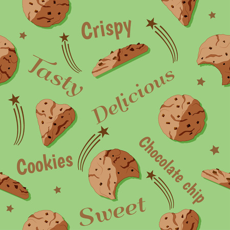 chocolate cookie: Sweet chocolate chip celebration design