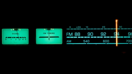 Tuning radio.with dials