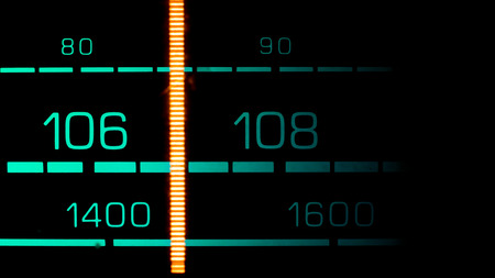 modulation: Tuning into 107 MHz FM on an old 70s radio receiver
