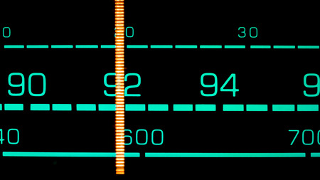 tuning: Tuning into 92 MHz FM on an old 70s radio receiver