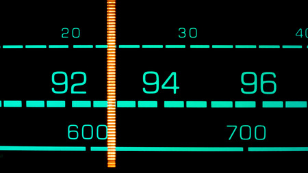 fm: Tuning into 93 MHz FM on an old 70s radio receiver