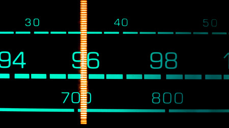 fm: Tuning into 96 MHz FM on an old 70s radio receiver