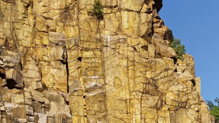 climbing  wall: granite quarry climbing wall on the danish island of bornholm