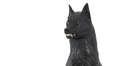 guard dog: Snarling cyborg guard dog