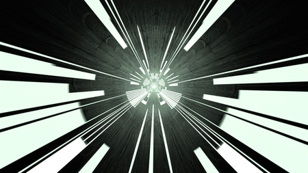 Sci fi Circuit board Tunnel, 3d rendering Stock Photo