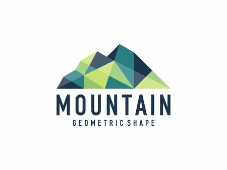 Unique geometric abstract mountain logo