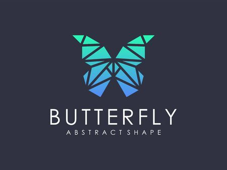 modern abstract geometric butterfly logo
