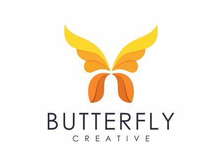 Unique charming butterfly logo