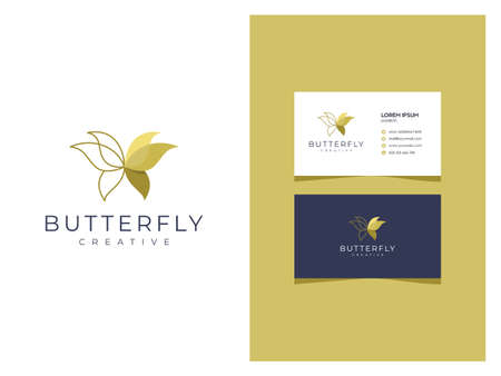 Outline Creative Minimalist Boutique Logo With Business Card