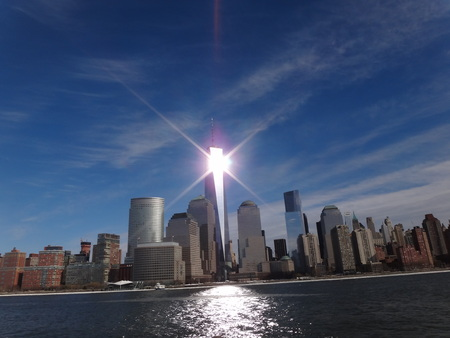 Amazing view World Trade Center NYC Freedom Tower