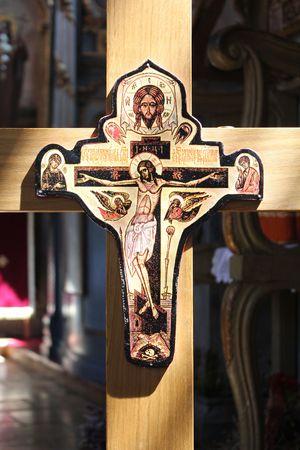 Crucifix in Servische orthodoxe klooster (Klooster Vrdnik)
