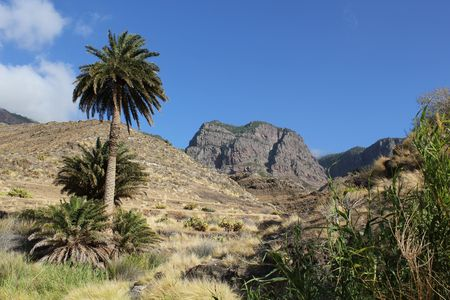 Typisch landschap in Agaete, western Gran Canaria