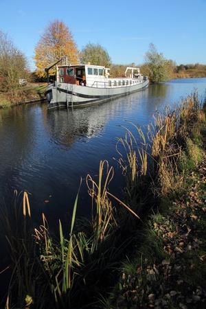 boat on Moervaart Wachtebeke Stockfoto - 11306547