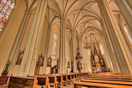 interieur van Saint Mary kathedraal, Novi Sad, Servië Stockfoto - 14963477