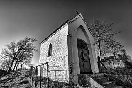 Kleine kapel, Boigneberg, Maarke-Kerkem, België Stockfoto - 26039014