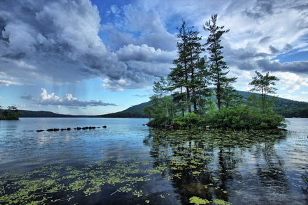 Moose Pond, Bridgton, Maine, USA Stockfoto - 26039146