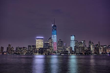 Downtown Manhattan seen from New Jersey
