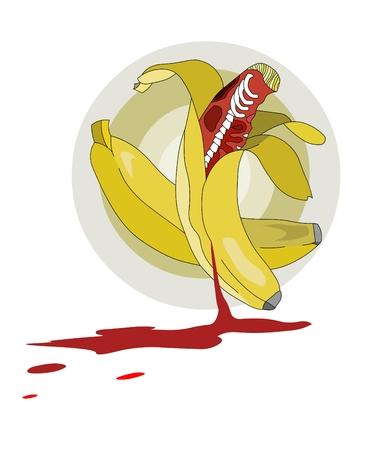 Alive bananas Stock Vector - 8089396