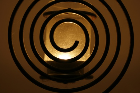 lampe: Spirallampe dunkel; spiral-lamp dark Stock Photo
