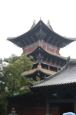 horse cock: Chinese building within the Shaolin Temple, China