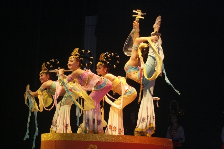 accrue: theatre of dancing in Xian  Xian, China