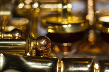 soprano saxophone: Los detalles del sistema de flaps de un saxof�n soprano