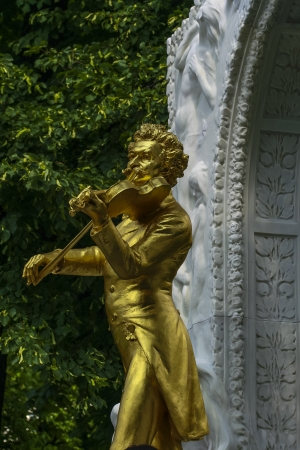 Johann Strauss statue from Stadt park photo