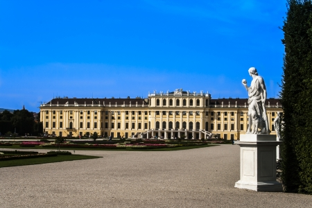 schoenbrunn: Central view of Schoenbrunn Palace
