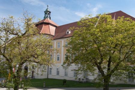 upper austria: Entrance to the abbey Seitenstetten, Upper Austria