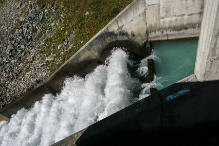 inflow: Inflow to the reservoir Laengental in a concrete channel