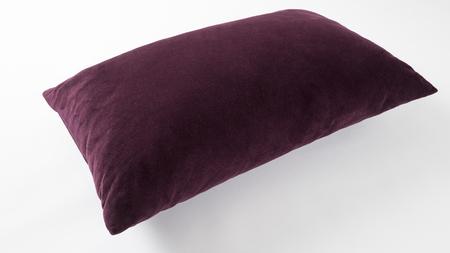 rectangular purple pillow isolated on white background